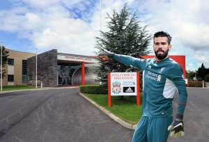 Alisson at Melwood?